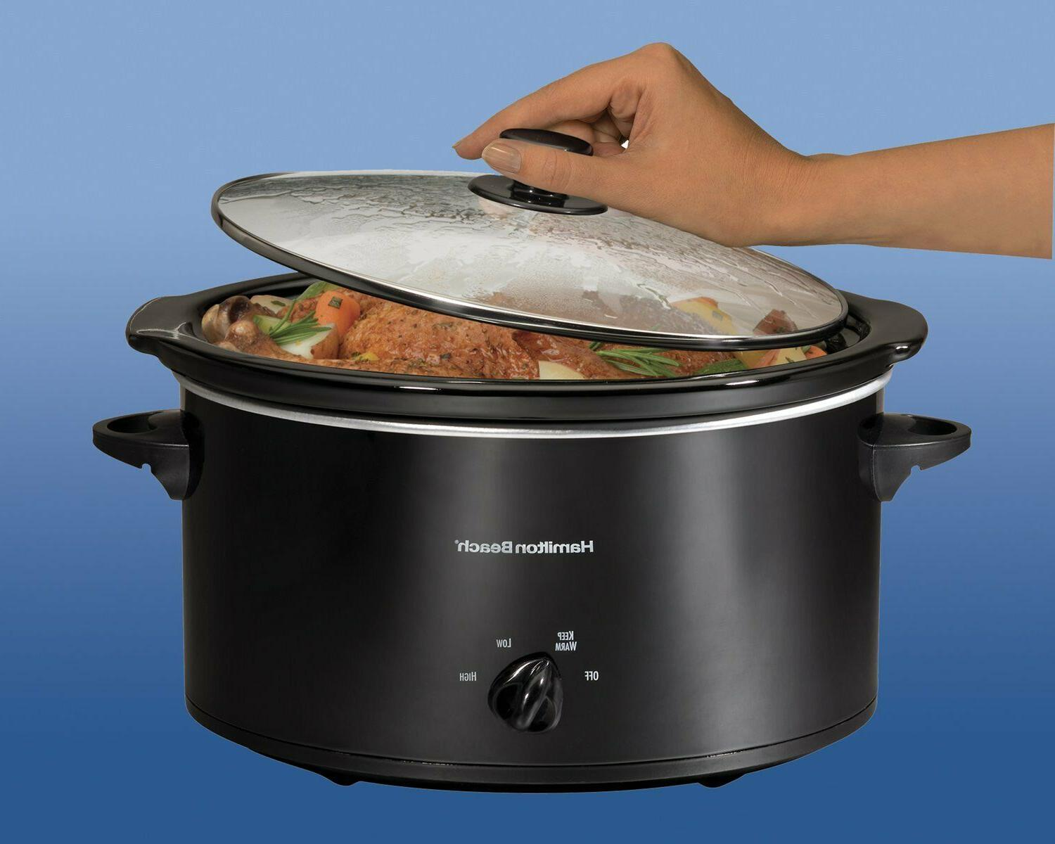 Hamilton Beach Slow Cooker, Black -