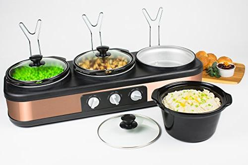 HomeCraft TSC25 Round Cooker - Copper