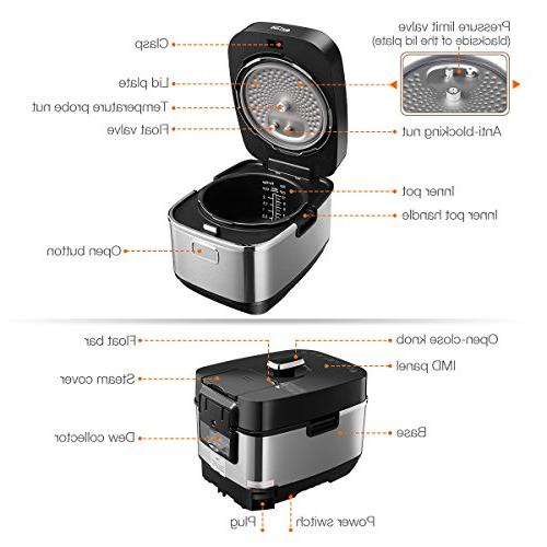 Pressure Cooker, System, Housmile Electric Rice Multi-Use Programmable Pressure 5