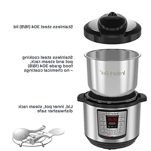 Instant Pot LUX80 8 Qt Multi- Use Programmable Pressure Cooker, Cooker, Rice Cooker, Steamer, and