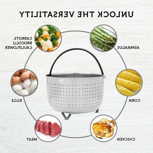 Steamer Basket for Instant Pot 6 -8 QT Pressure Cooker Acces
