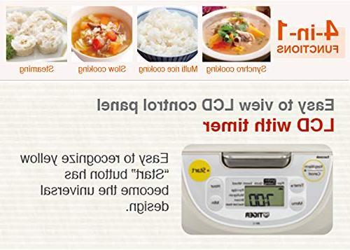 Tiger JBV-S18U Microcomputer Controlled 4 Rice , White & Zonoz Silicone Spatula