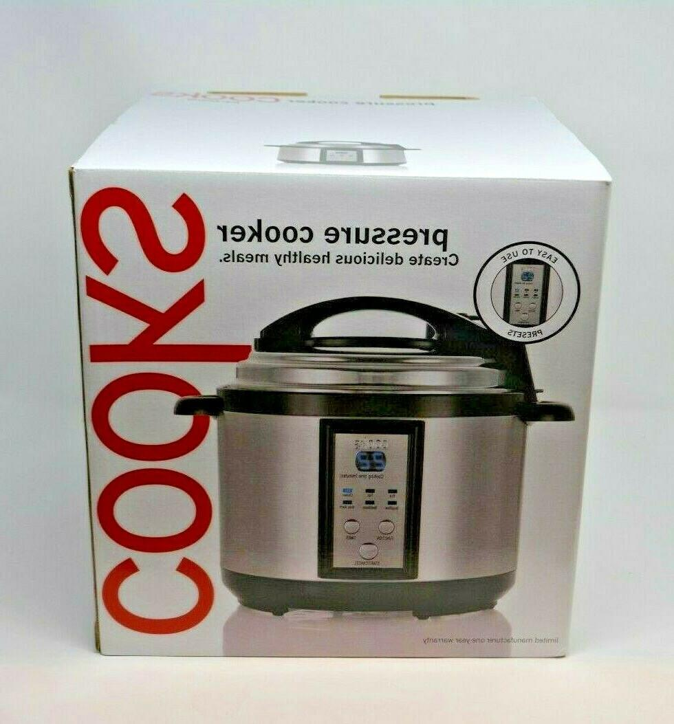 jcpenney cooks pressure cooker nib jcp 5