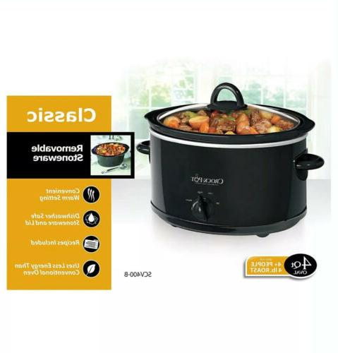 Kitchen Crock Pot 4 Portable Oval Slow Home Cooking