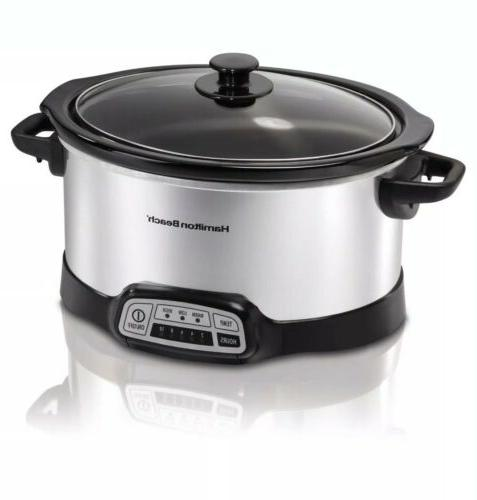Hamilton Beach Programmable 5-Quart Slow Cooker, Healthy Home Cooking