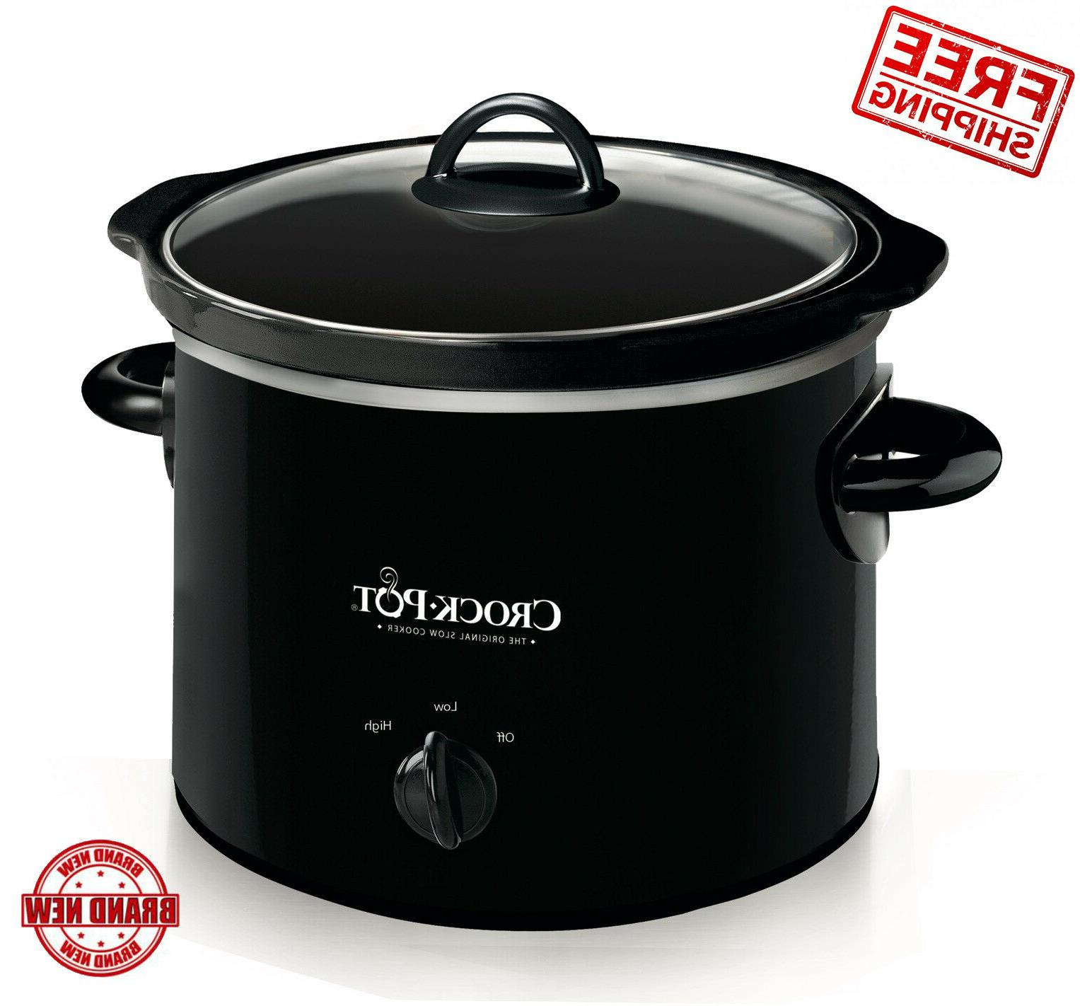 Kitchen Small Cooking Crock-Pot 2-Quart Round Manual Slow Co