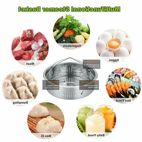 8 Pack Accessories Cooker+Cooking Steamer Basket