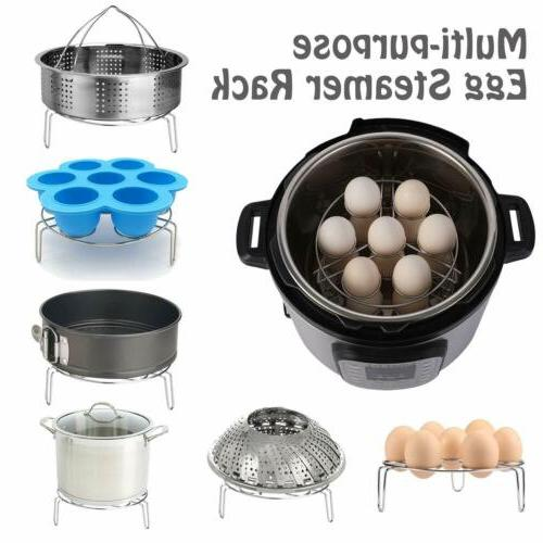 8 Instant Accessories Fits Cooker+Cooking Steamer
