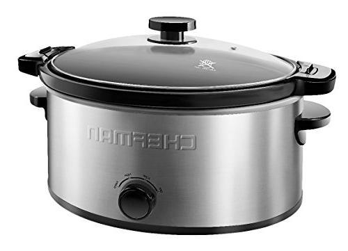 Chefman Cooker Easy Capacity, Stainless Steel