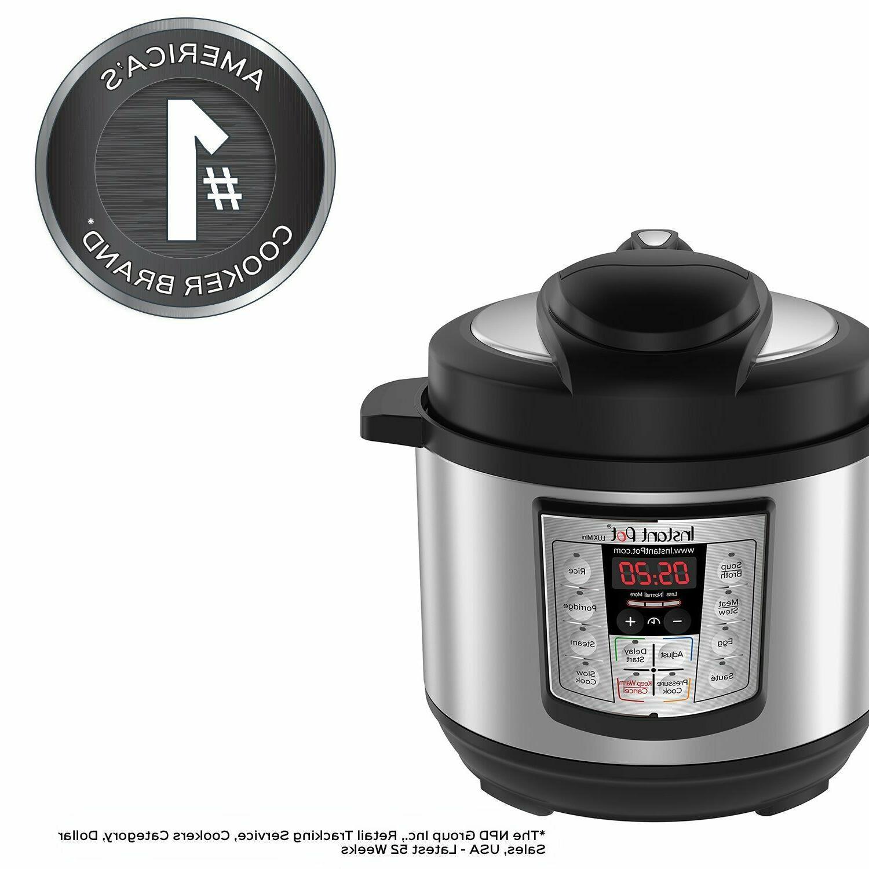 LUX Mini 6-in-1 Multi- Use Pressure Cooker,