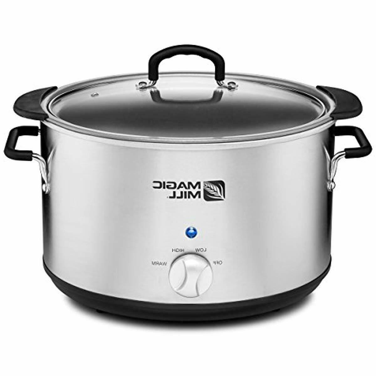 Magic Mill 10 Slow Cooker 3 Heat Settings Stainless