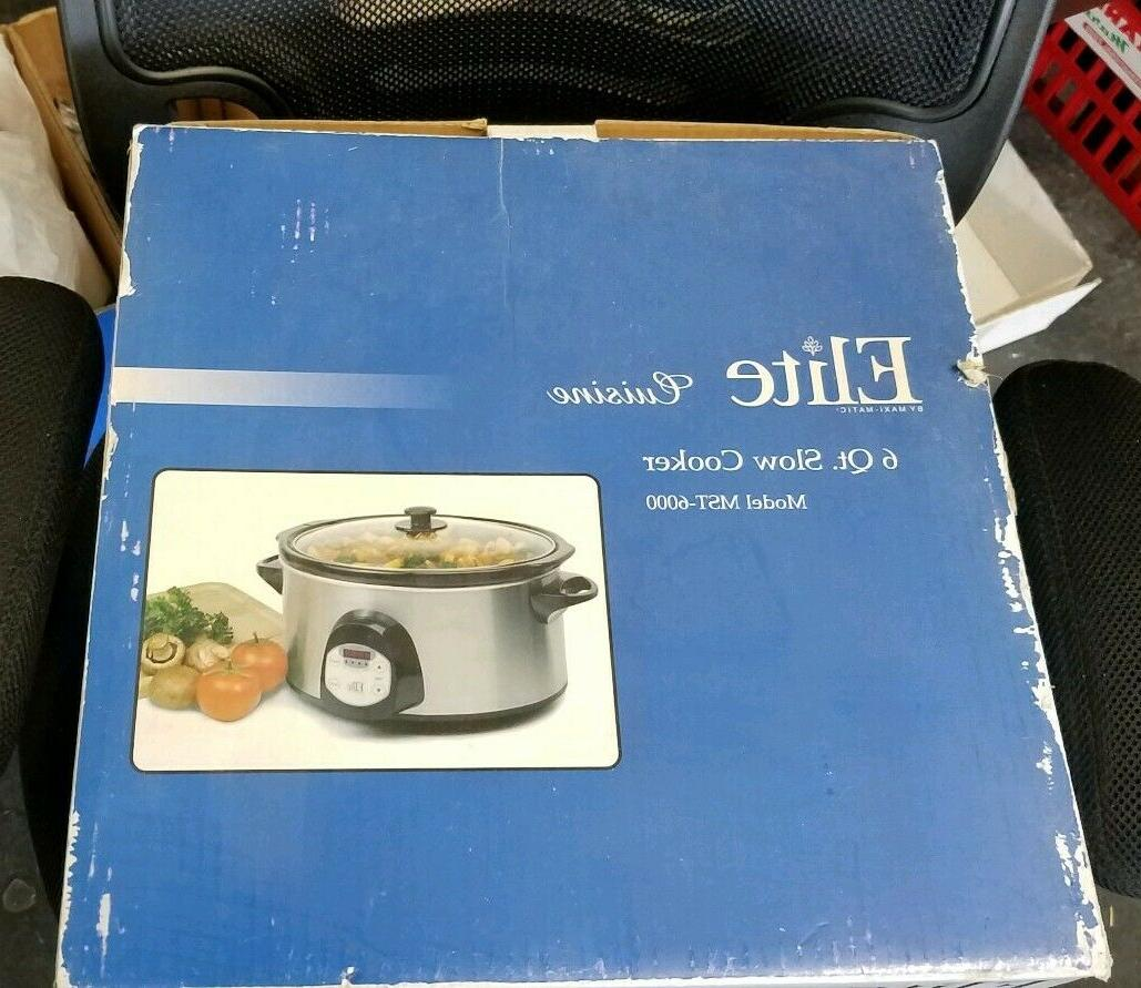 6-Quart Programmable Slow Cooker, Stainless
