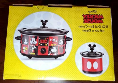 Mickey Mouse 5 Oval Cooker w/ 20 Oz Pot NEW! Fast Ship!