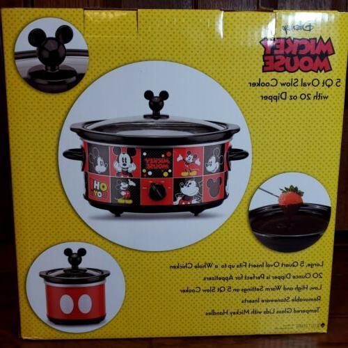 Mickey Mouse 20 Oz Crock Pot NEW!