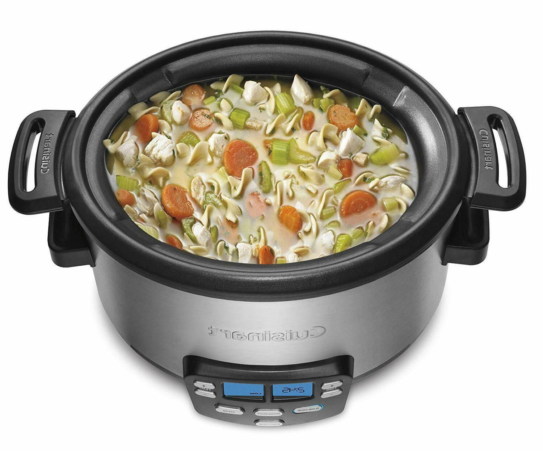 MSC-400 3-In-1 Cook 4-Quart Multi-Cooker: Slow Brown/Saute