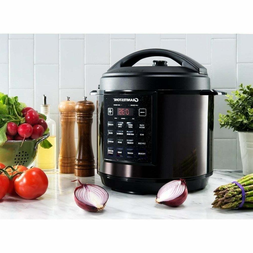 GraniteStone Pressure Steamer, Slow cooker, Non-stick, 6QT