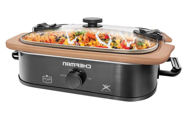 natural casserole slow cooker with locking lid