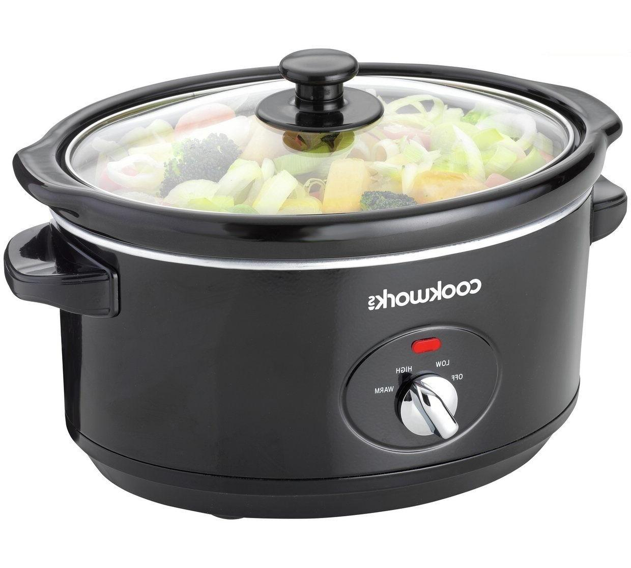 new 3 5l compact slow cooker kitchen