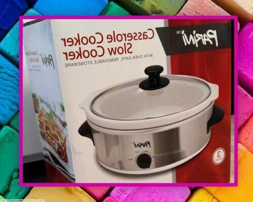 new 3 pc stainless steel casserole cooker