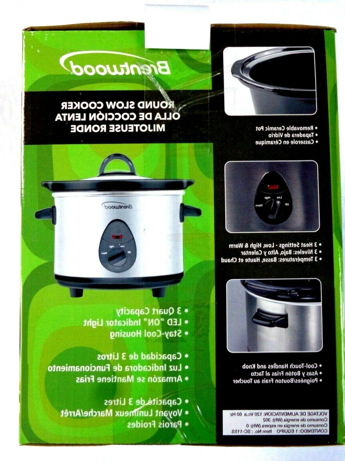 *NEW* 3 Crock Pot Slow by BRENTWOOD
