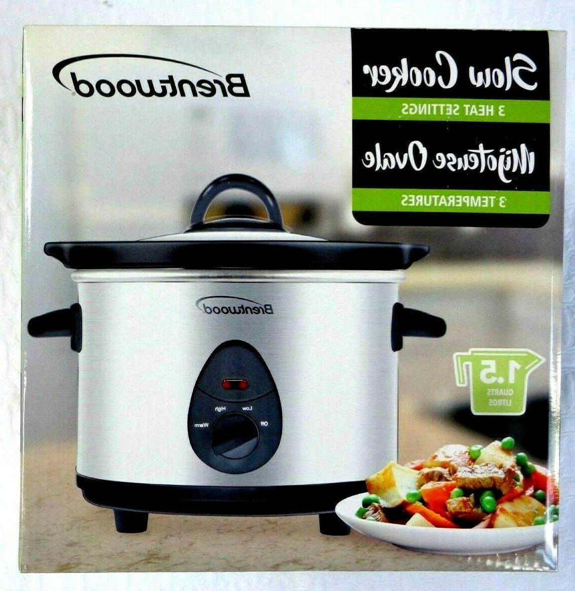 new 3 qt crock pot slow cooker