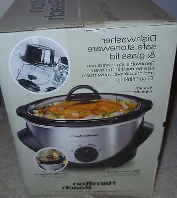 New Kitchen Counter-Top 4-Quart Slow Cooker