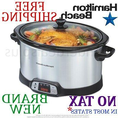 new 8 quart slow cooker programmable countdown