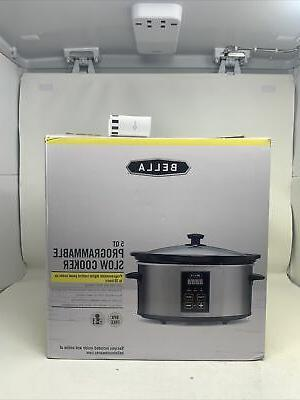 new bella programmable slow cooker crock pot