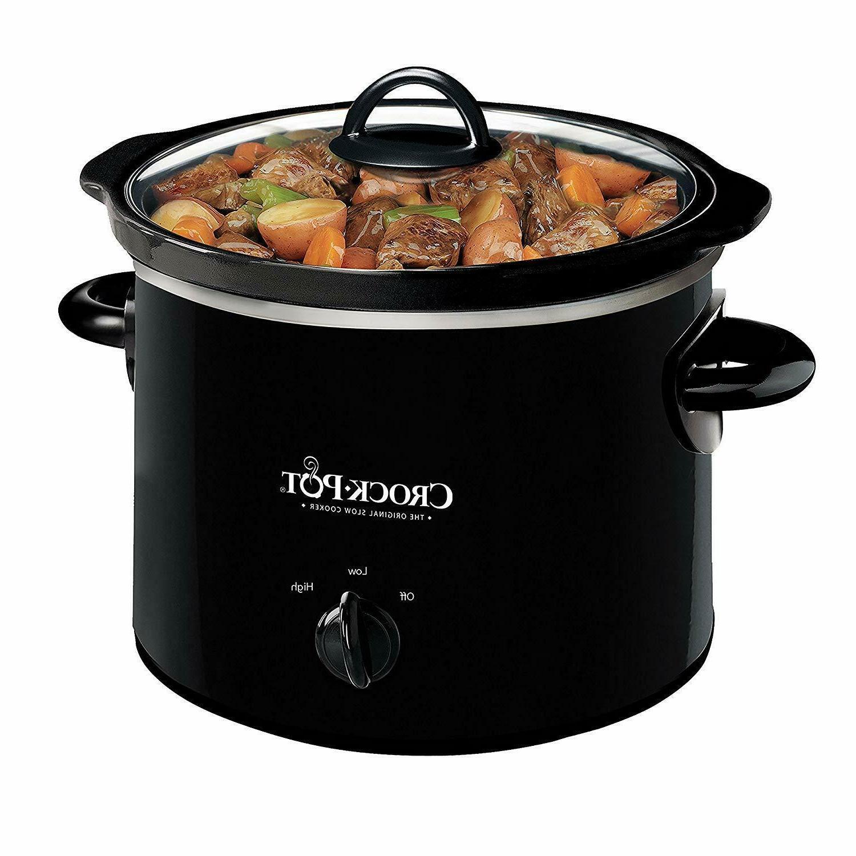new crock pot scr200b black round manual