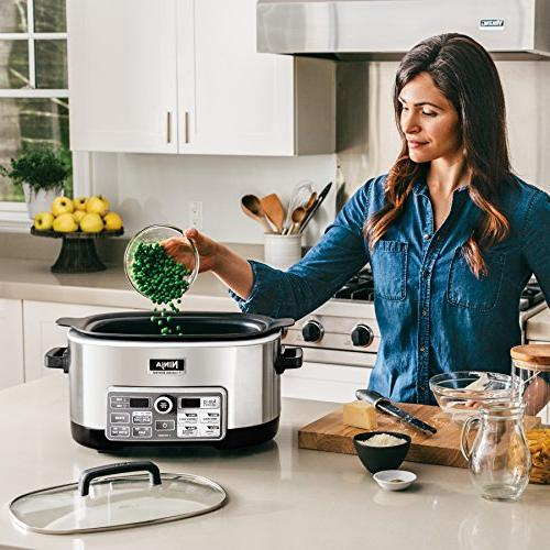 Ninja Multi/Slow with 80-Pre-Programmed for Searing, Slow Baking 6-Quart Pot