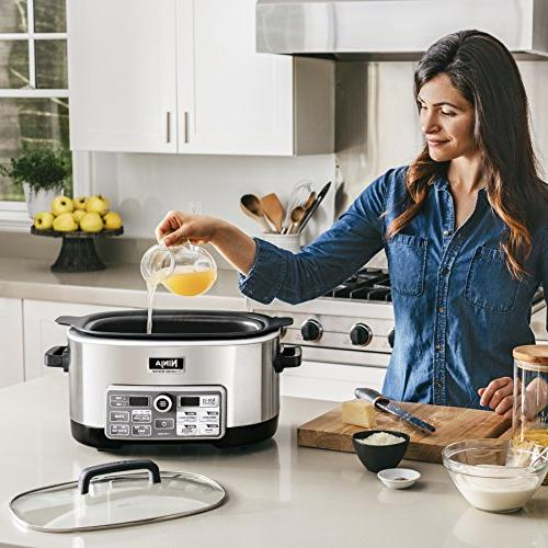 Ninja Multi/Slow Cooker with Auto-iQ for Slow Cooking, Baking and 6-Quart