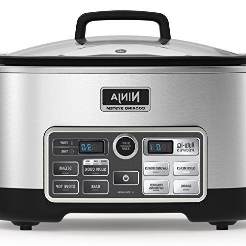 Ninja Auto-iQ Multi/Slow with 80-Pre-Programmed Auto-iQ for Cooking, Baking and 6-Quart