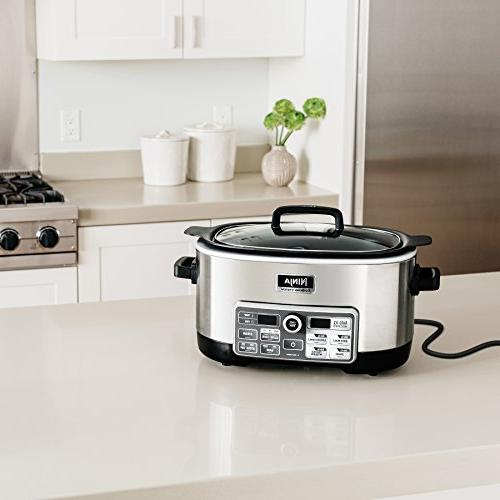 Ninja Auto-iQ with 80-Pre-Programmed for Searing, Baking and Steaming with 6-Quart Nonstick