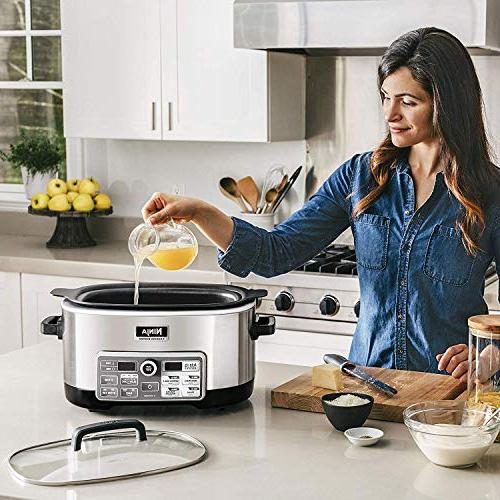 Ninja Auto-iQ with Auto-iQ for Searing, Slow Baking with 6-Quart Nonstick Pot
