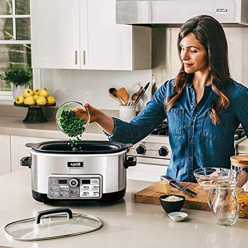 Ninja Auto-iQ with Auto-iQ Recipes for Slow Cooking, Baking 6-Quart Nonstick