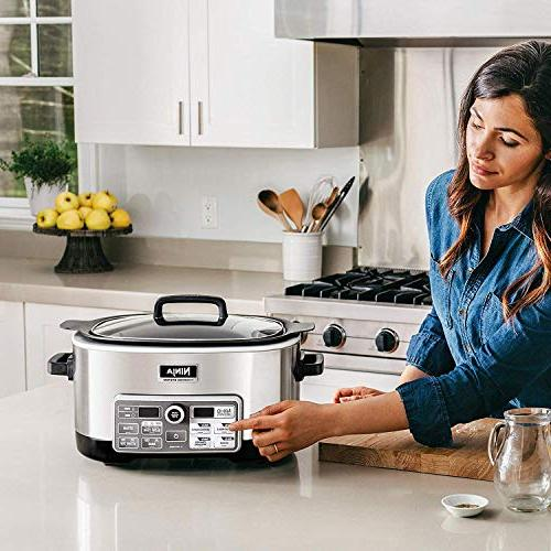 Ninja with 80-Pre-Programmed for Searing, Baking 6-Quart