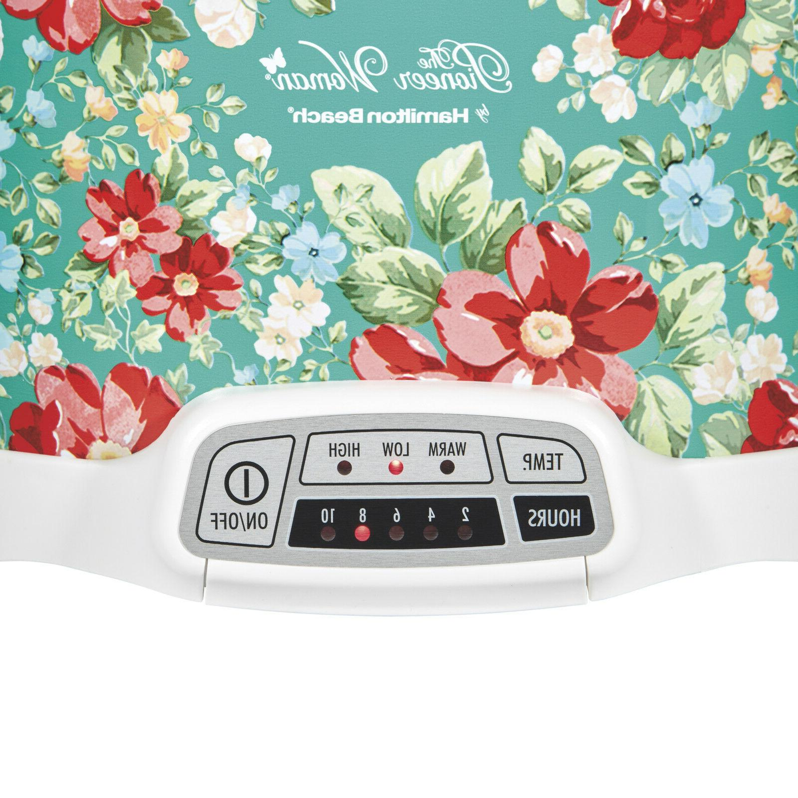 Pioneer Woman 7 Quart Programmable Cooker Floral | 33479 by