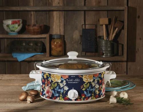 Pioneer Woman Crock Pot, Hamilton Beach Quart Slow Cooker Fiona Floral