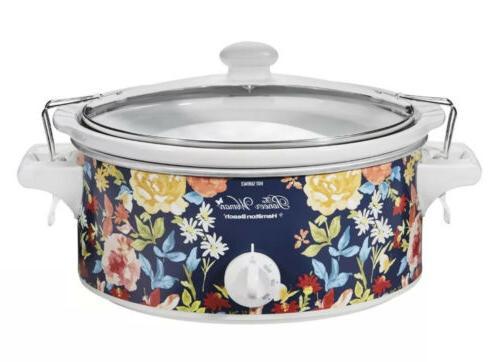 Pioneer Woman Kitchen Pot, Hamilton Quart Slow Cooker Floral