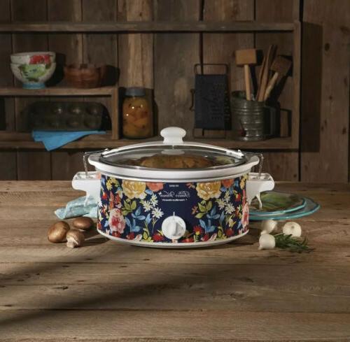 Pioneer Pot, Beach Quart Slow Cooker Floral