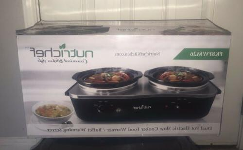 pkbfwm26 dual pot electric slow cooker food