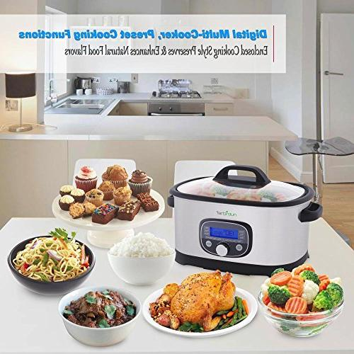 Cooker 1 Steel High-Pressure Pot w/ Digital Display, 11 Preset Modes, Sous PKPC35