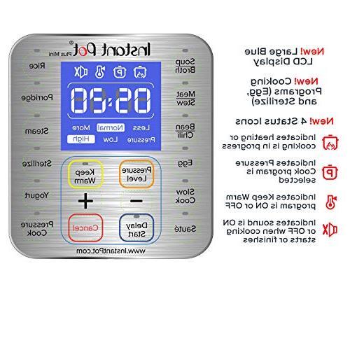 Instant Pot 3 Qt 9-in-1 Use Programmable Slow Rice Yogurt Cooker, Sauté, Sterilizer