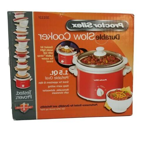 portable oval slow cooker
