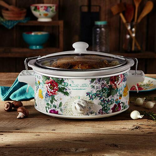 Pioneer Cooker, Oval Pot 6 Quart, Floral Style