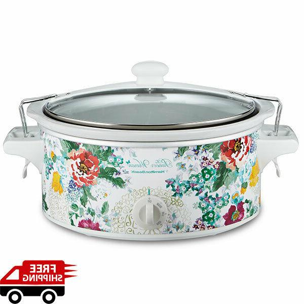 portable slow cooker oval crock pot 6