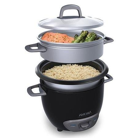 Aroma 6-Cup Pot-Style Cooker Black