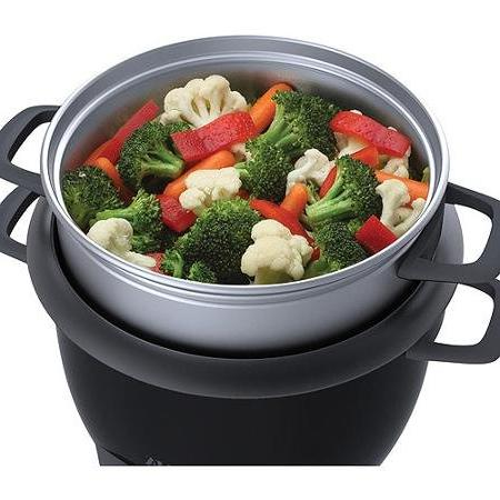 Aroma Cooker and Food Steamer, Black