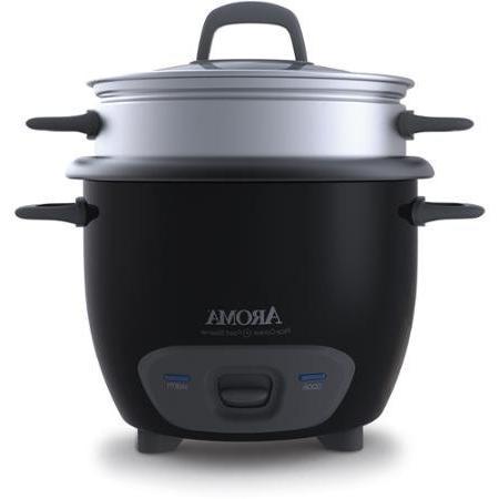 Aroma Pot-Style Cooker Food Steamer, Black
