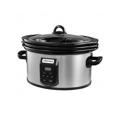 Pot Crock Cooker Quart 6 New Stainless Crockpot